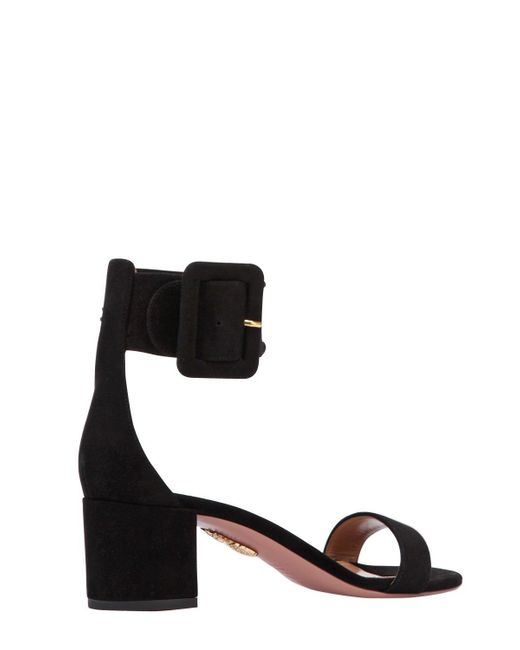 Aquazzura 50MM CASABLANCA SUEDE SANDALS W/BUCKLE TzrpQQP