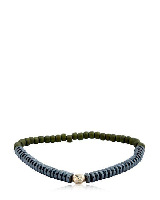 Luis Morais - Green Mini Faceted Bead Bracelet - Lyst