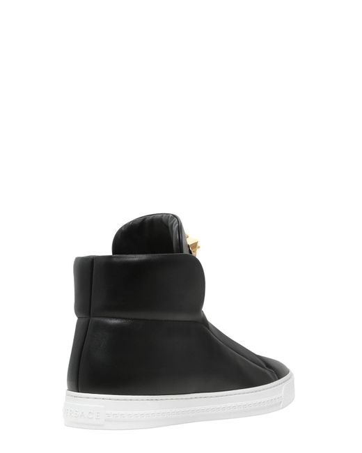 VERSACE MEDUSA NAPPA LEATHER HIGH TOP SNEAKERS e9Xc1NWLi