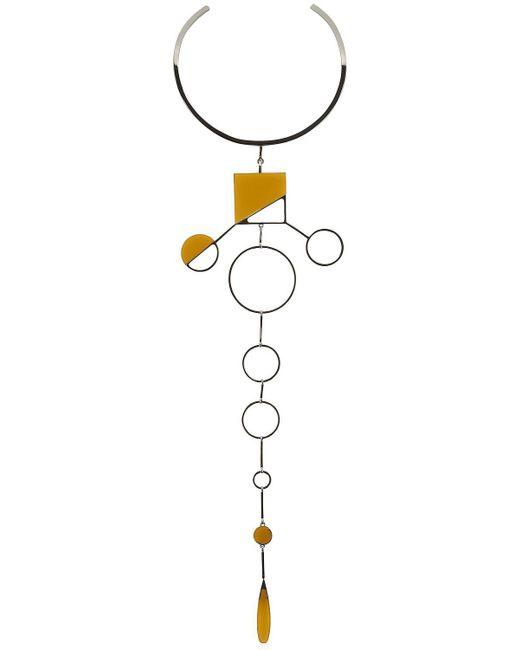 Sylvio Giardina - Metallic Barock Tie Necklace - Lyst