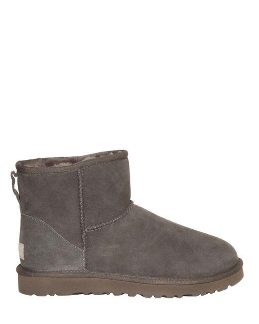 Ugg   Gray Classic Mini Ii Shearling Boots   Lyst