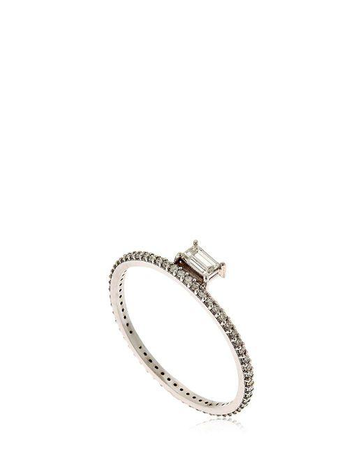 Sarah Noor | Metallic Baby Baguette Ring | Lyst
