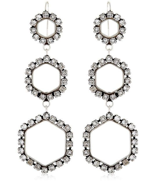 Isabel Marant - Metallic Here It Is Crystal Earrings - Lyst