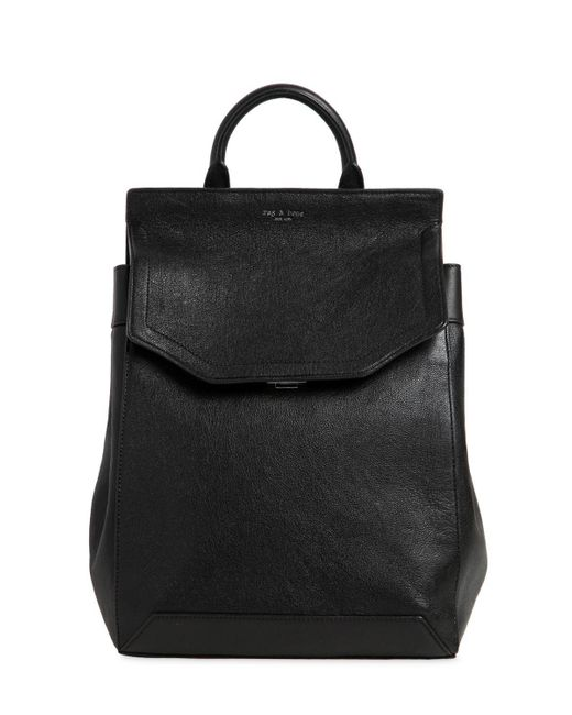 Rag & Bone - Black Medium Pilot Leather Backpack - Lyst