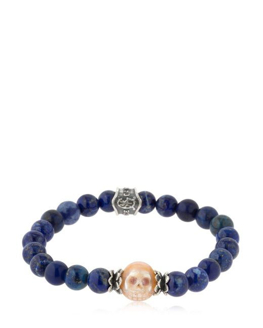 Cantini Mc Firenze - Blue Baroque Skull Lapis Lazuli Bracelet for Men - Lyst