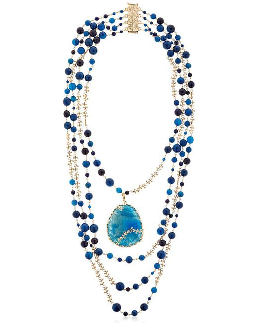 Rosantica | Amuleto Blue Quartz & Agate Necklace | Lyst