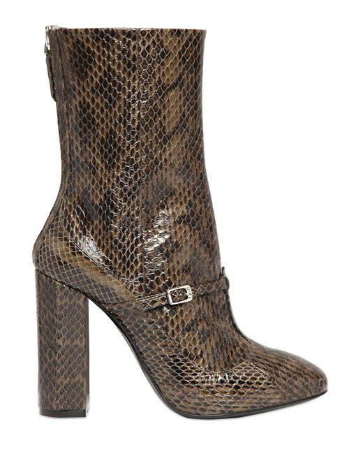 N°21 | Natural 100mm Elaphe Snakeskin Ankle Boots | Lyst