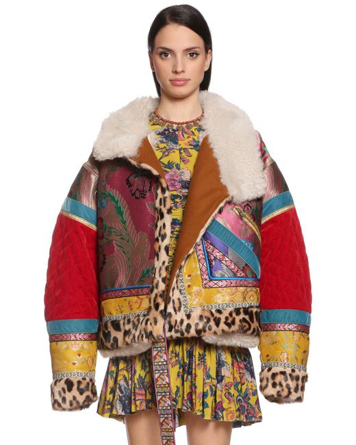 Etro - Multicolor Oversized Patchwork Bomber Jacket - Lyst