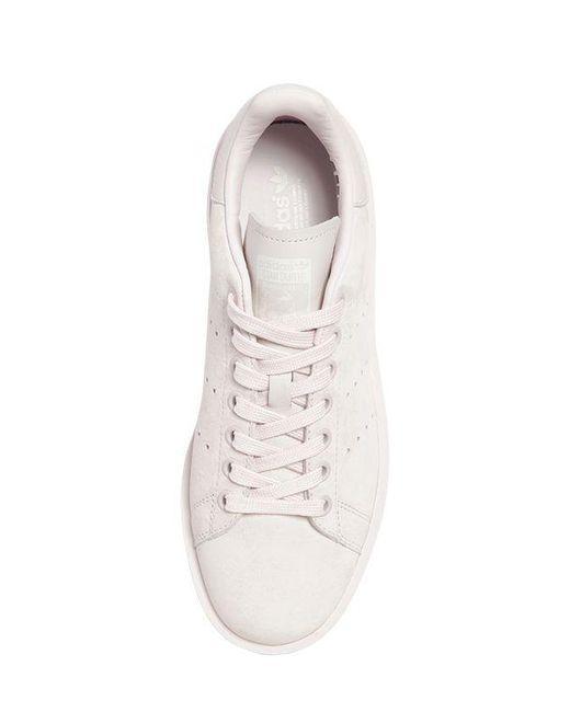 lyst adidas stan smith audace scarpe in cuoio originali rosa