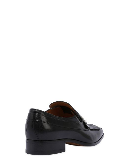 tI2DgkQFqf 25MM NOVEL GG BUCKLE LEATHER LOAFERS 4uoiGmrR