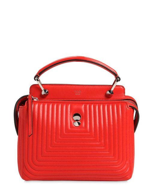 Fendi | Red Small Dotcom Quilted Leather Bag | Lyst