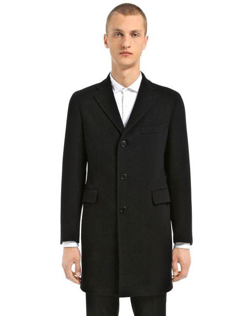 Tagliatore - Black Wool & Cashmere Coat for Men - Lyst