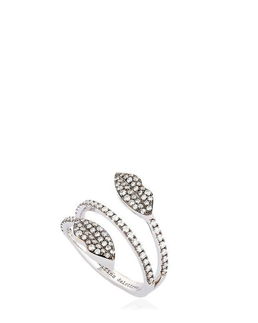 Delfina Delettrez - Metallic Marry Me Double Lips Ring - Lyst