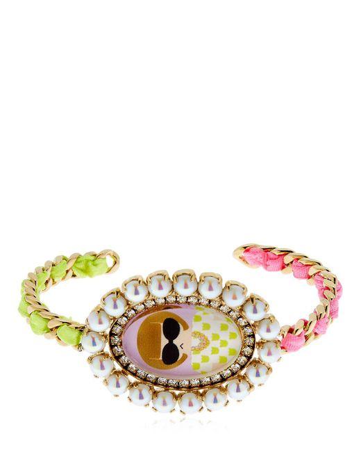 Bijoux De Famille - Multicolor Anna Cameo Rigid Bracelet - Lyst