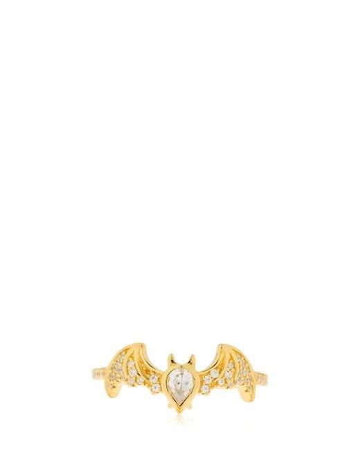 Apm Monaco - Metallic Flying Bat Ring - Lyst