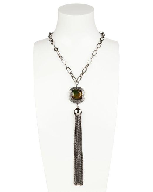 Gabriele Frantzen | Metallic Stone Tassel Necklace | Lyst