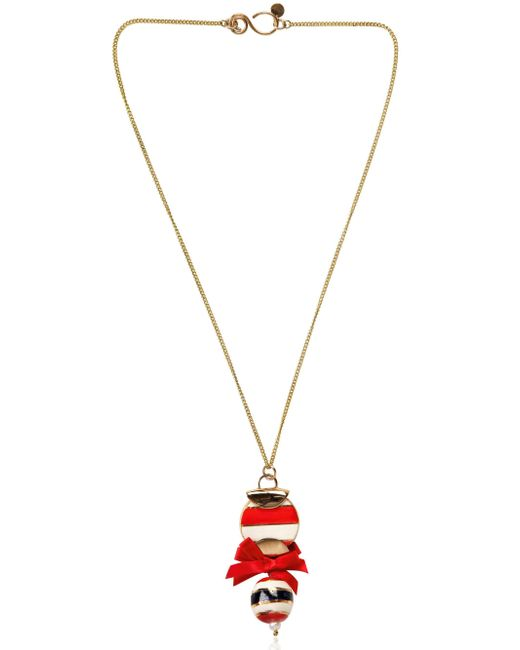 Sonia Boyajian | Red Circus Ball Pendant Necklace | Lyst