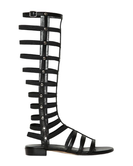 Stuart Weitzman | Brown Nappa Leather Gladiator Sandals | Lyst
