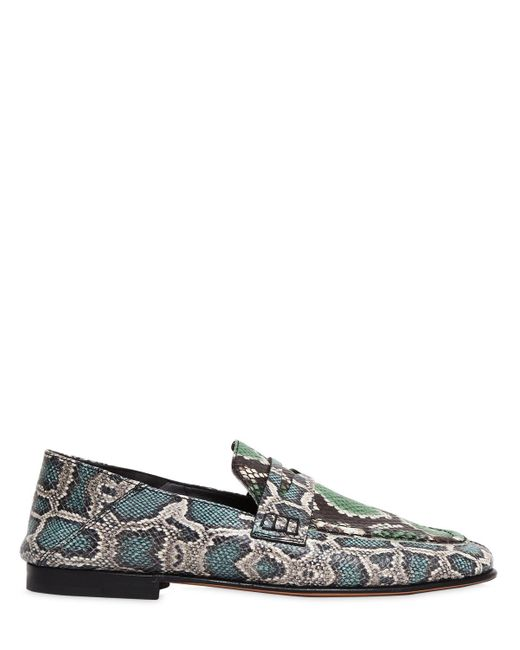 Buy Online Outlet Low Shipping Fee Cheap Online Isabel Marant 10MM FEEZY EMBOSSED PYTHON LOAFERS Genuine Cheap Price Outlet Collections Enjoy Cheap Price OMdw3P6D