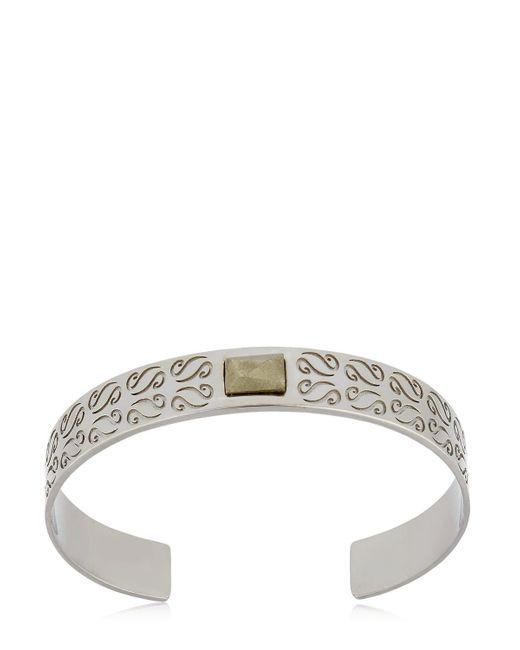 MARCO DAL MASO | Metallic Ara Cuff Bracelet With Pyrite | Lyst