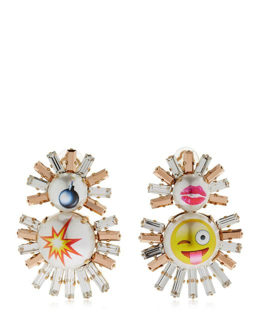 Bijoux De Famille | Metallic Emoji Live Fast Clip-on Earrings | Lyst