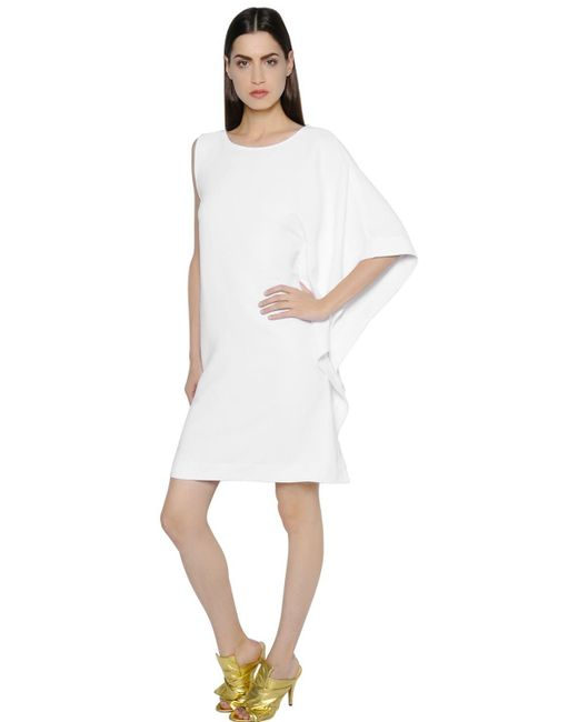 Gianluca Capannolo | White One Sleeve Techno Cady Dress | Lyst