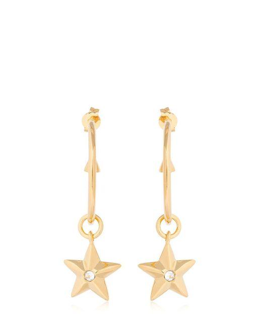Schield - Metallic Star Charm Hoop Earrings - Lyst