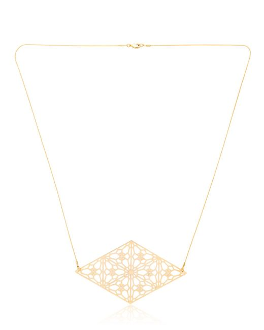 Lotocoho | Metallic Alhambrs Diamond Shaped Necklace | Lyst