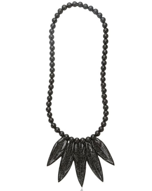 Mariah Rovery | Black Colar Penas Necklace | Lyst