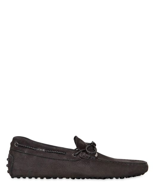 Tod's | Black Gommino 122 My Color Nubuck Driving Shoe for Men | Lyst