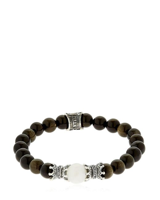 Cantini Mc Firenze | Black Bracelet With Beads for Men | Lyst