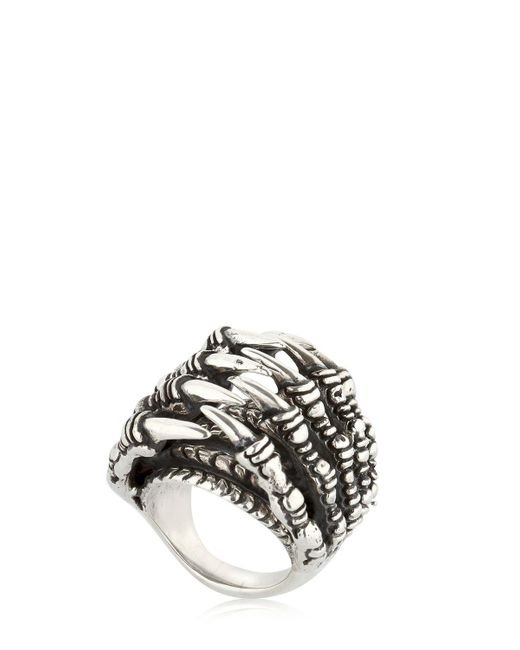 KD2024 - Metallic Ring Claw Tunnel Ring - Lyst