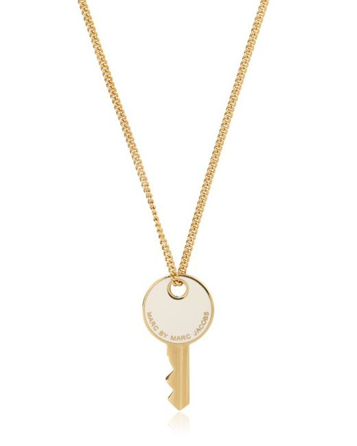 Marc By Marc Jacobs | Metallic Enameled Brass Key Pendant Necklace | Lyst