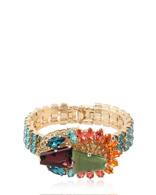 Anton Heunis   Metallic Crystal Cluster Bracelet   Lyst