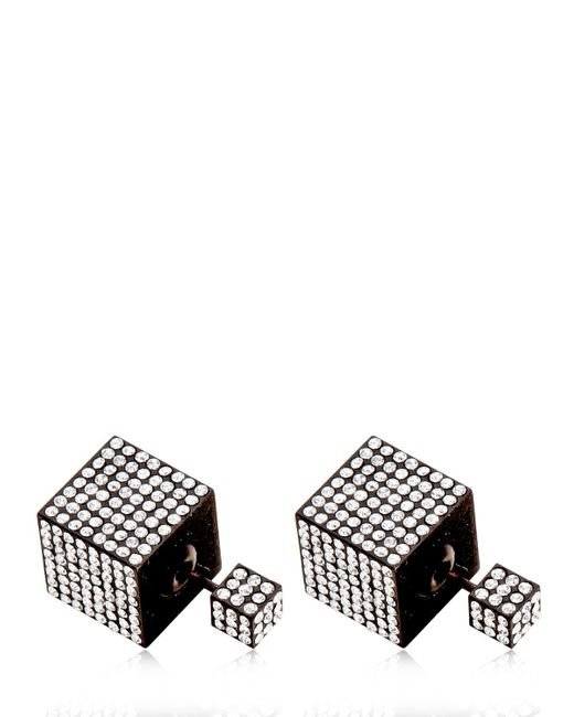 Vita Fede | Black Jumbo Double Cube Earrings | Lyst