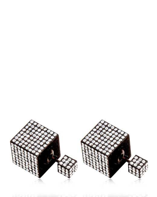 Vita Fede | Black Jumbo Double Cube Earrings | Lyst