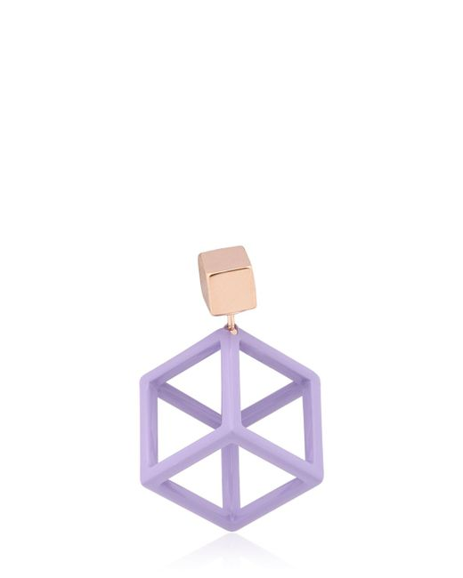 Caterina Zangrando | Purple Jason Mono Earring | Lyst