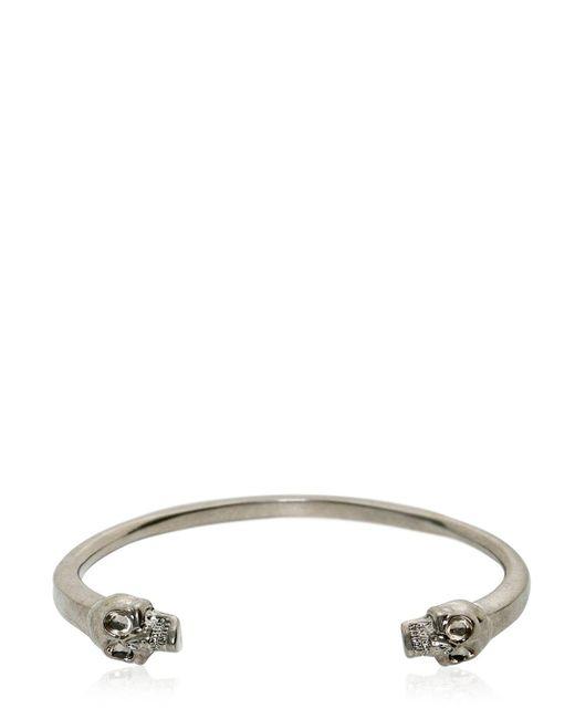 Alexander McQueen | Metallic Skulls Bracelet for Men | Lyst