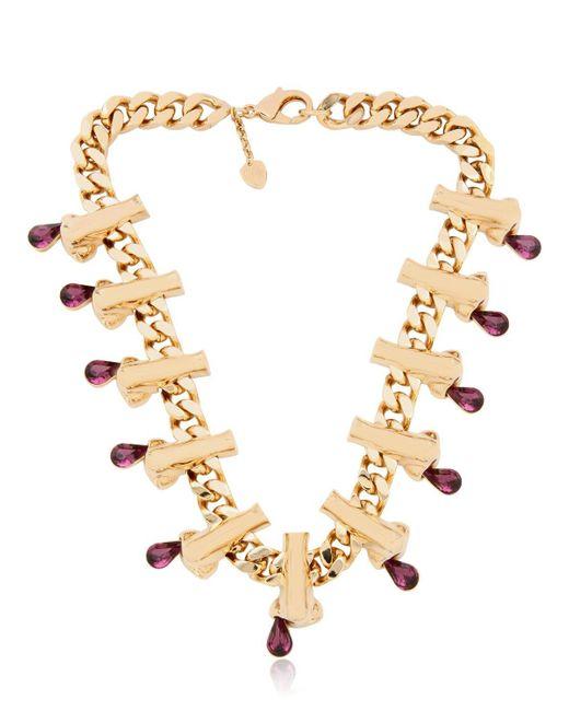 Schield | Metallic 'dripping Nose' Necklace | Lyst