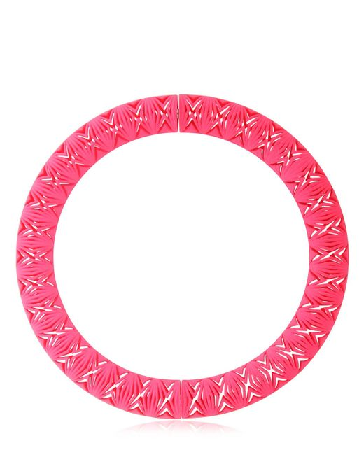 Vojd Studios | Pink Chevron Necklace | Lyst