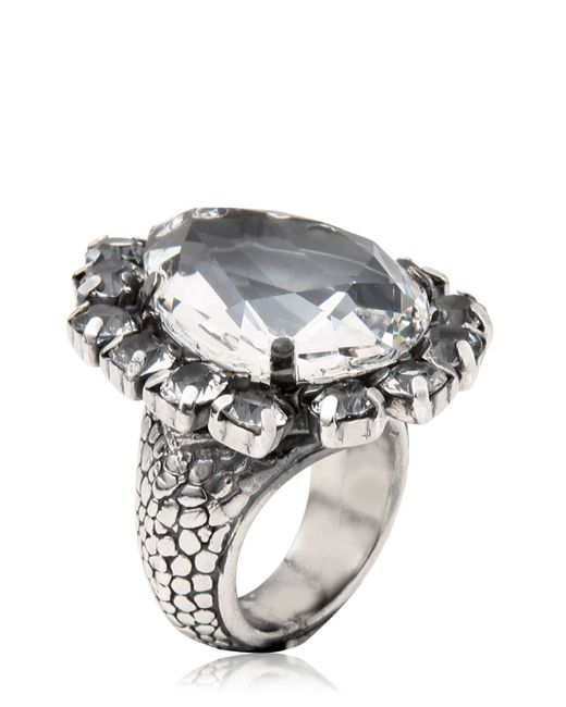 Emanuele Bicocchi | Metallic Swarovski Crystal Ring | Lyst