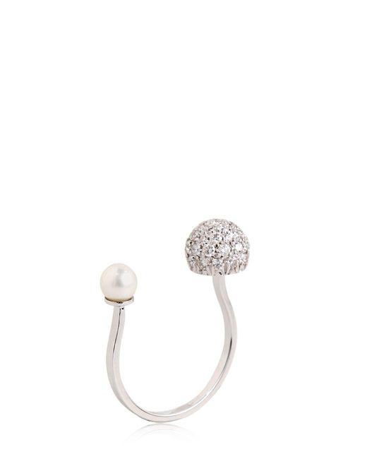 Delfina Delettrez | White Sphere Ring | Lyst