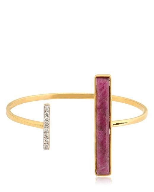 Jade Jagger | Red Asymmetrical Bangle Bracelet | Lyst