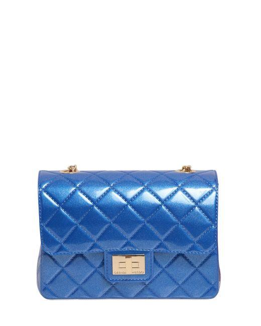 Designinverso | Blue Milano Quilted Effect Pvc Shoulder Bag | Lyst