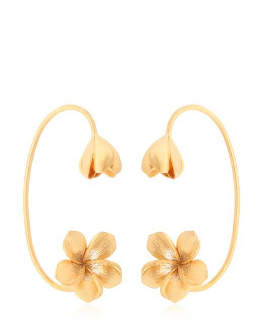 Jade Jagger | Metallic Frangipani Flower Cuff Earrings | Lyst