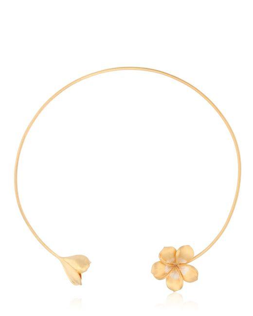 Jade Jagger | Metallic Frangipani Twin Flower Necklace | Lyst