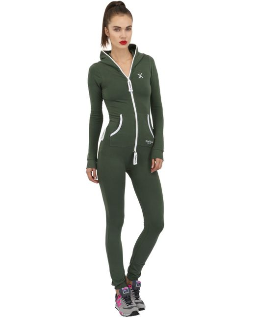 OnePiece | Green Slim Fit Stretch Cotton Jumpsuit | Lyst