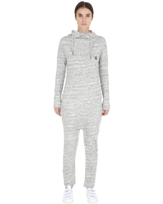 OnePiece   Gray Cotton French Terry Jumpsuit   Lyst