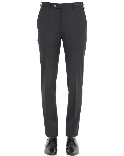 PT01 | Black 18cm Winter Traveler Wool Blend Pants for Men | Lyst