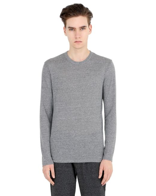 Alternative Apparel | Gray Organic Long Sleeve Cotton T-shirt for Men | Lyst